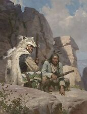 """""""Observers Above Fort Phil Kearny, 1868"""" Z. S. Liang  Masterwork Giclee Canvas"""
