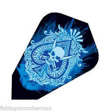 HARROWS FANTAIL ACE OF SKULLS HOLOGRAPHIC DART FLIGHTS