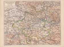 Österreich ob der Enns Oberösterreich LANDKARTE von 1889 Hausruckviertel