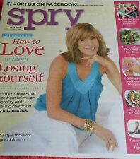 SPRY MAGAZINE MAY 2013 LEEZA GIBBONS CAREGIVERS CELLULITE FIXES YOGA MOVES