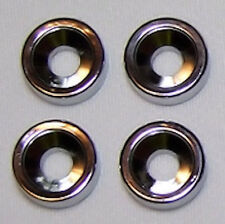 Guitar Parts - SET of 4 - BUSHINGS FERRULES - For Neck Mounting - CHROME