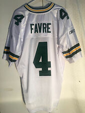 Reebok Authentic NFL Jersey Green Bay Packers Brett  Favre  White sz 52