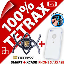 Tetrax Lot Smart Voiture Ventouse Support+ Xcase Blanc Apple iPhone 5 / 5S / SE