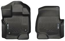 2016-17 Toyota Tacoma Front Floor Mats Husky Liners WeatherBeater Black 13951