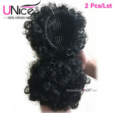 2Pcs/Lot Freetress Equal Drawstring Ponytail Black Lovely Afro Curly Hair Weft