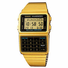 Casio Men's Classic Goldtone Databank Watch, Alarm, Chronograph,  DBC611G-1D