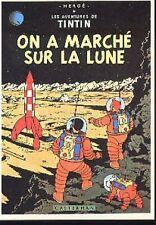 TINTIN On a marché sur la lune Milou Hergé carte postale cp postcard 22 fusée