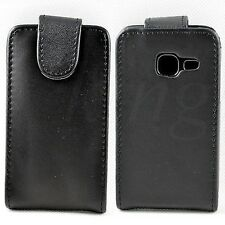 Black Flip Leather Pouch Hard Skin Case Cover For Samsung Galaxy Ace Duos S6802
