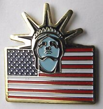 STATUE OF LIBERTY USA FLAG UNITED STATES AMERICA CLASSIC LAPEL PIN BADGE 1 INCH