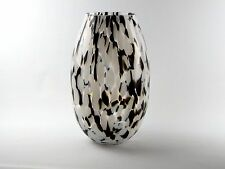 Handmade Glass Vase With Black and White Patterns  H-30 cm