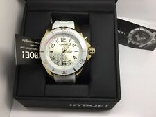 KYBOE THE ORIGINAL GIANT 48 STAINLESS STEEL/GOLD TONE W/WHITE BEZEL (NEW)