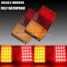 2x LED BOAT TRAILER REAR TAIL STOP TURN LIGHT INDICATOR LAMP 100% WATERPROOF 12V