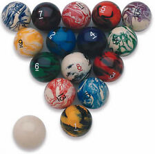 Tournament Quality Poolballs / Billiard Ball Set - Marbleized