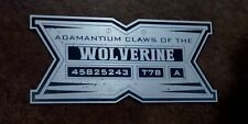 CUSTOM WOLVERINE CLAWS PROP DISPLAY PLACARD ADAMANTIUM