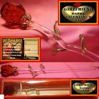 SINGLE RED ROSE GLASS GIRLFRIEND HAPPY VALENTINES DAY I LOVE YOU GIFT CARD TAG
