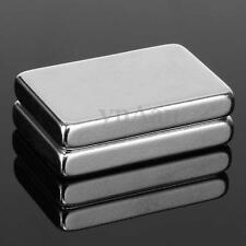2Pcs Super Strong Big Block Neodymium 30x20x5mm Rare Earth Fridge Magnet N50