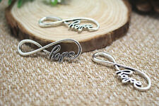 20pcs- Silver hope infinity charms Pendants, hope infinity charms 39x14mm