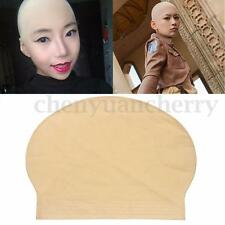 Latex Bald Head Cap Flesh Skin Hair Cover Old Man Costume Baldy Shaved Scalp HOT