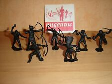 Soviet Russian Vintage plastic TOY set of 8 Soldiers 80-s DZI ussr Indians