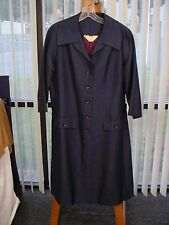 Vintage 1960's UNUSED W/TAGS Barney Max Navy Blue SILK DRESS Sz 14 Lot 426