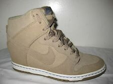 NIKE DUNK SKY HI  BAMBOO SUEDE WEDGE SNEAKERS  # 528899-201 SIZE 40.5 / US 9