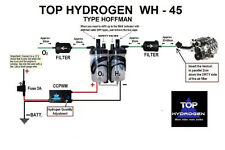 H2, HYDROGEN WH - 45, TYPE HOFFMAN, FUEL SAVER CAR KIT, CC PWM, INSTEAD HHO USE.