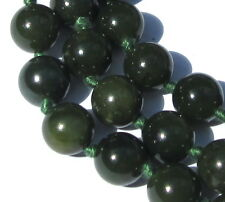 "32"" HAND-KNOTTED NECKLACE OF STUNNING OLD JADE VINTAGE BEADS"
