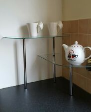 2 Tier Glass Shelving - Ideal for Extra Storage in Bathrooms/Kitchens