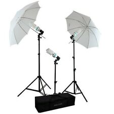"675W 2x33"" Photo Studio White Soft Umbrella Light Stand Photography Lighting Kit"