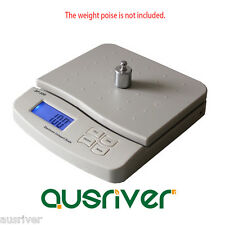 White 25kg/1g Digital Kitchen Scale Commercial Shop Electronic Postal Scales