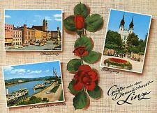 Alte Postkarte - Grüße aus der Donaustadt Linz