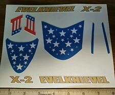 "CUSTOM ""EVEL KNIEVEL""  X-2 CANYON SKY CYCLE  STICKERS"