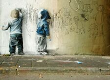 A4 Banksy Art imprimé Photo pour 99p (KIDS GRAFFITI)