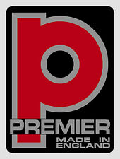 Premier Drums type vinyl shell badge/decals - TWO COPIES ONLY (self adhesive).