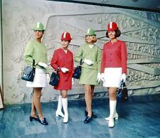 Photo. 1969-70. New Zealand. Airline Hostesses Modeling Uniforms