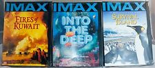 Region 1 IMAX DVD 3 New Unopened Into the Deep Survival Island Fires of Kuwait
