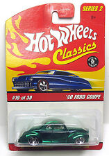 "Hot Wheels Classics ""40 FORD COUPE - SERIES 2 - #19 of 30 - 1:64"
