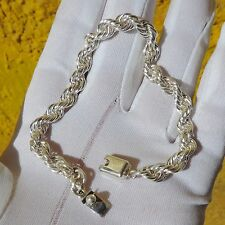 Sterling Silver Rope Men's Bracelet From Taxco Mexico