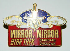 Classic Star Trek TV Series 33rd Aired Episode Mirror Mirror Logo Metal Pin NEW