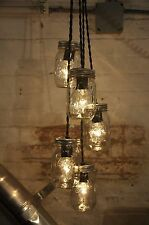 Mason Jar Chandelier Pendant Light Fixture Rustic Industrial Retro