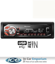 Pioneer car stereo radio, Front USB AUX in plays iPod iPhone Android Smartphone