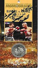 CHAVEZ vs. RANDALL OFFICIAL ON-SITE COMMEMORTIVE TOKEN - AUTOGRAPHED  BY BOTH -