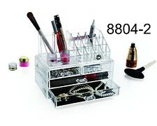 Clear Acrylic Transparent Make up Box Cosmetic Display Case 8804-2