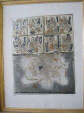 LOUTTRE BISSIERE - Gravure etching EA Du monde au balcon 1967
