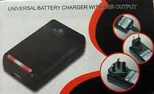 UNIVERSAL WALL CHARGER BATTERIA & Caricabatterie Samsung Galaxy s2 gt-i9100, USB,
