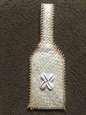 Coral Decorated Rattan Luggage Suitcase Bag Tag Address/Name Card Holder