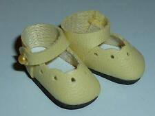 YELLOW DRESSY ANKLE STRAP SHOES FOR KISH RILEY & TINY BJDs 25mm