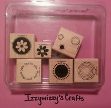 Stampin Up SEEING SPOTS dots flower circle thank you works with punches