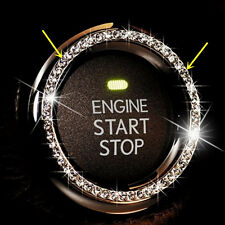 1pc 4.2cm White Decorative Accessories Car Button Start Switch Diamond Ring j