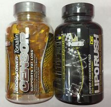 NDS Nutrition dual impact stack Liporush & Censor Weight Loss Kit - 2 bottles